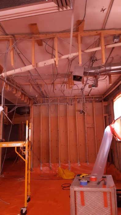 Asbestos containing drywall removal